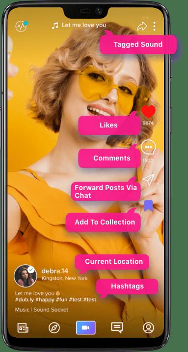 Dub Ly Tik Tok Clone Dubsmash Clone Social Video Sharing App